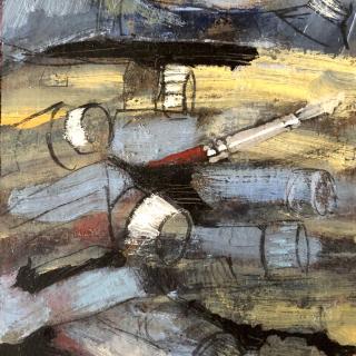 Tubes et pinceaux  12,5x18  h/carton toilé